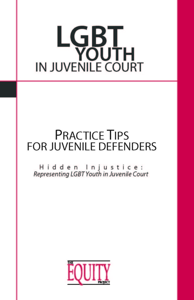 LGBT Youth in Juvenile Court - Cover