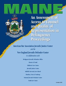 Maine Assessment Cover Page