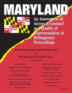 Maryland Assessment Cover Page