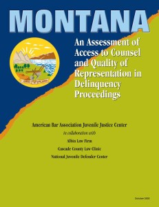 Montana Assessment Cover Page
