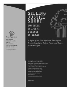 Texas Assessment Cover Page