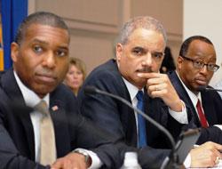Associate Attorney General Tony West, Attorney General Eric Holder, and OJJDP Administrator Robert Listenbee